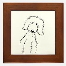 Cute Goldendoodle Framed Tile