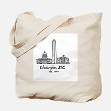 Cute Washington monument Tote Bag