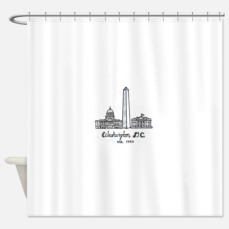 Cute Washington Shower Curtain