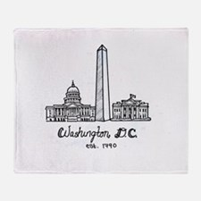 Funny Washington Throw Blanket