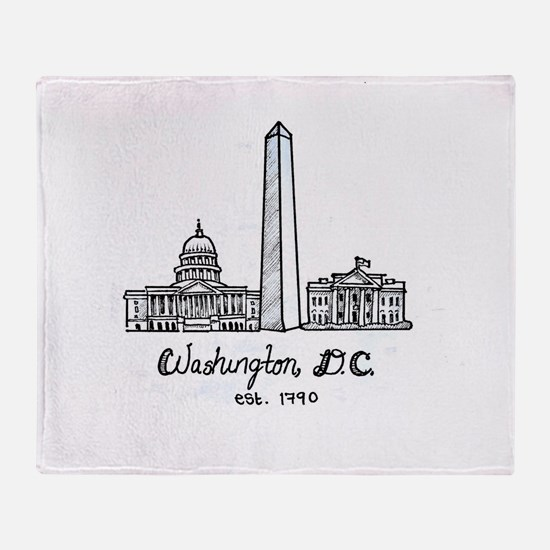 Cute Washington dc Throw Blanket