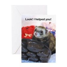 Look! I helped you--I hid it! Greeting Card