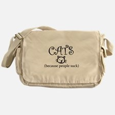 Cats because people suck Messenger Bag