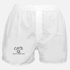 Cats because people suck Boxer Shorts
