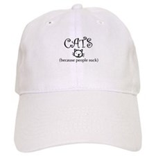 Cats because people suck Baseball Baseball Baseball Cap