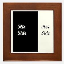 His Side: Her Side Framed Tile