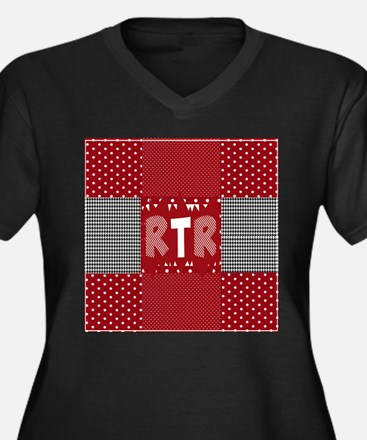 RTR houndstooth Plus Size T-Shirt