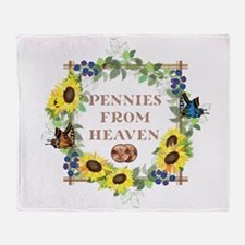 Pennies From Heaven Throw Blanket