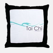 Tai Chi Wave 2 Throw Pillow