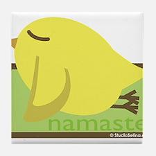 Yoga Bird Tile Coaster