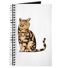 Orange & Black Tabby Cat Journal