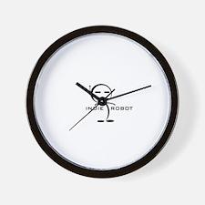 indierobot_logo2.jpg Wall Clock