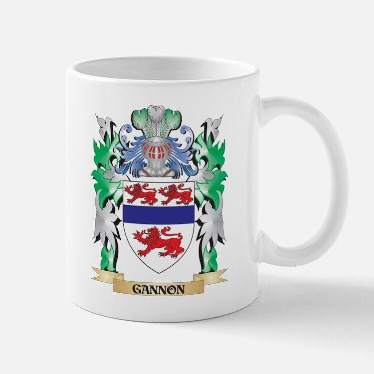 Gannon Coat of Arms (Family Crest) Mugs