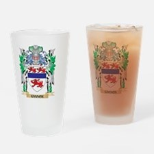 Gannon Coat of Arms (Family Crest) Drinking Glass