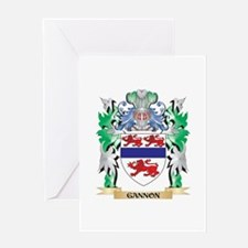 Gannon Coat of Arms (Family Crest) Greeting Cards
