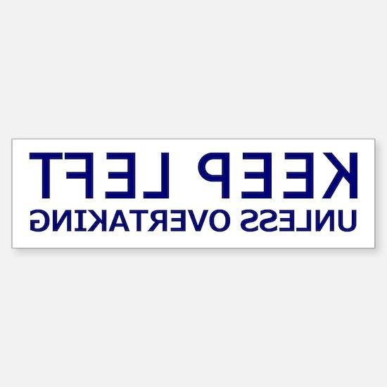 Keep Left Mirrored Bumper Car Car Sticker