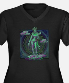 Unique Kwan yin Women's Plus Size V-Neck Dark T-Shirt