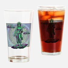 Cute Buddhist art Drinking Glass
