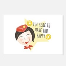 Make You Happy Postcards (Package of 8)