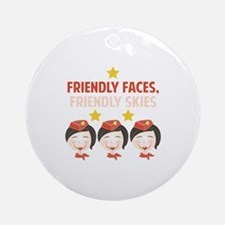 Friendly Faces Round Ornament