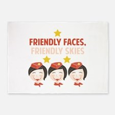 Friendly Faces 5'x7'Area Rug