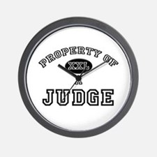 Property of a Judge Wall Clock