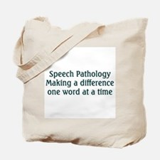 Speech Pathologist Tote Bag