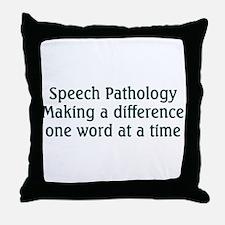 Speech Pathologist Throw Pillow