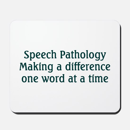 Speech Pathologist Mousepad