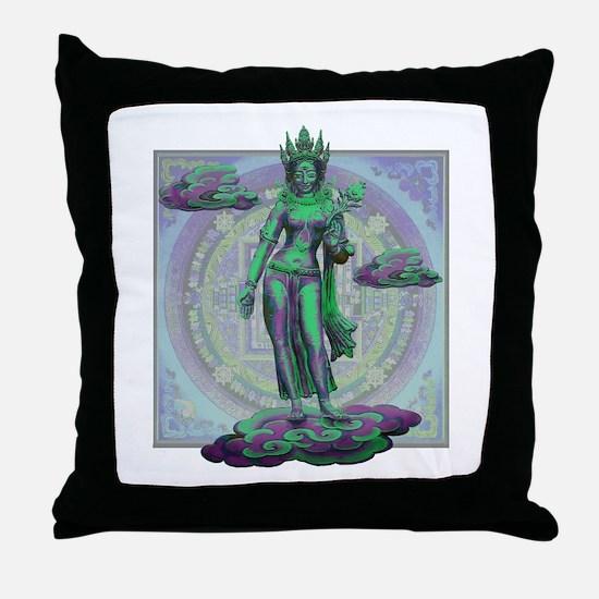 Tara Goddess Bodhissatva Throw Pillow