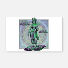 Tara Goddess Bodhissatva Rectangle Car Magnet