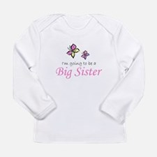 Cute Big sister in training Long Sleeve Infant T-Shirt