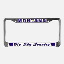 Montana Drk Lpt License Plate Frame