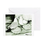 Ice Pigeons Greeting Card