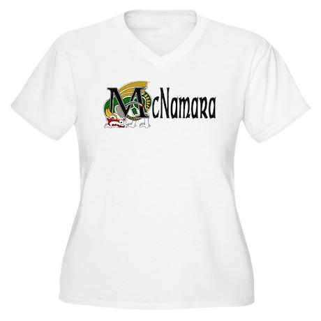 McNamara Celtic Dragon Women's Plus Size V-Neck T-