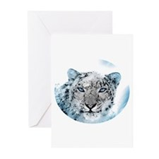 Snowleopard Greeting Cards (Pk of 20)