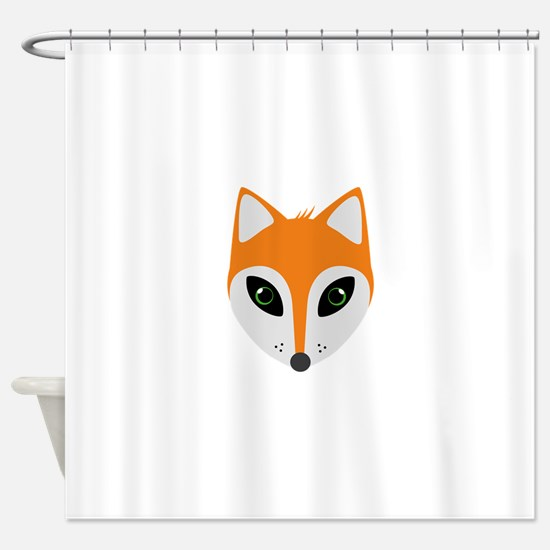 Fox with green eyes Shower Curtain