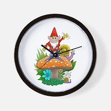 Waving gnome. Wall Clock