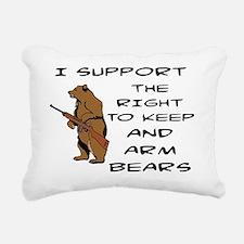Cute Bears Rectangular Canvas Pillow
