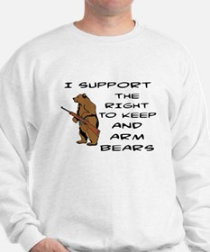 KEEP AND ARM BEARS - GUNS Sweatshirt