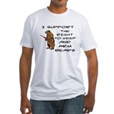 The right to keep and arm bears Fitted Light T-Shirts