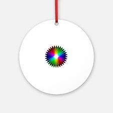 Cute Pi spiral Round Ornament