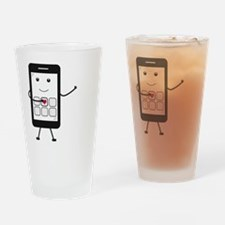 Cute Cellular telephone Drinking Glass