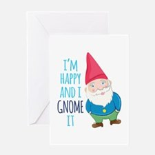 Happy Gnome Greeting Cards