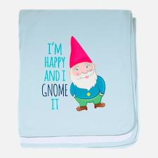 Happy Gnome baby blanket
