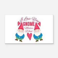 Love You Gnome Rectangle Car Magnet