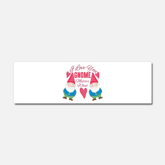 Love You Gnome Car Magnet 10 x 3