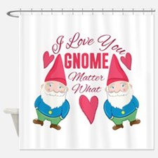Love You Gnome Shower Curtain