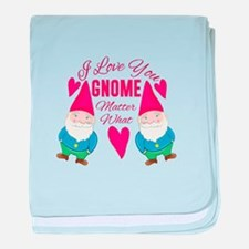 Love You Gnome baby blanket