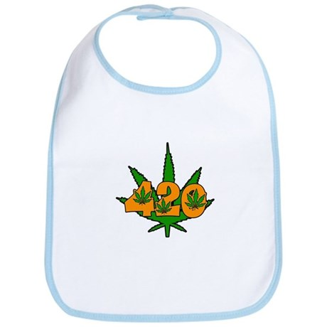 420 Pot Leaf Bib